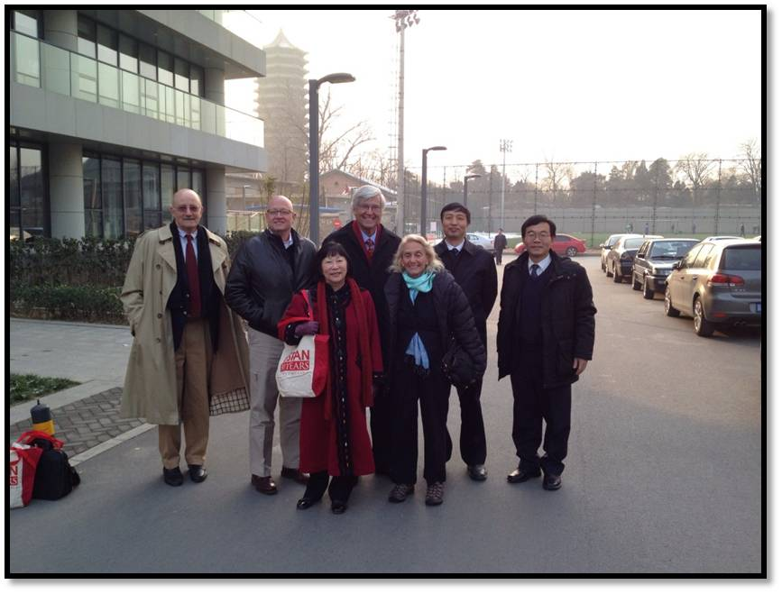 Professor Geoffrey Cowan with the Dean of Peking University