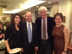 Geoffrey Cowan in Shanghai with Alison Friedman, producer; Consul General Robert Griffiths; and actress Amy Pietz